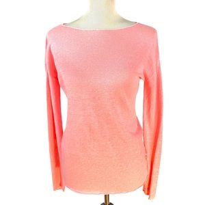 LILLY PULITZER LONG SLEEVED SWEATER BOAT NECK PINK